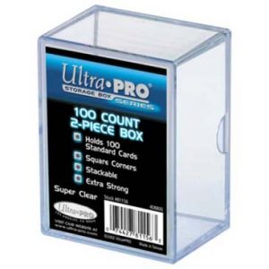 ULTRA PRO 100 COUNT 2 PIECE STORAGE BOX