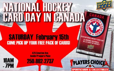 NATIONAL HOCKEY CARD DAY JUST A FEW WEEKS AWAY